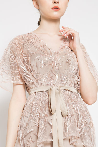 Ayra Dress in Blush Pink