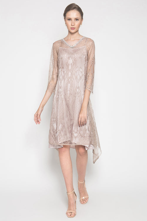 Ashana Dress in Soft Peach