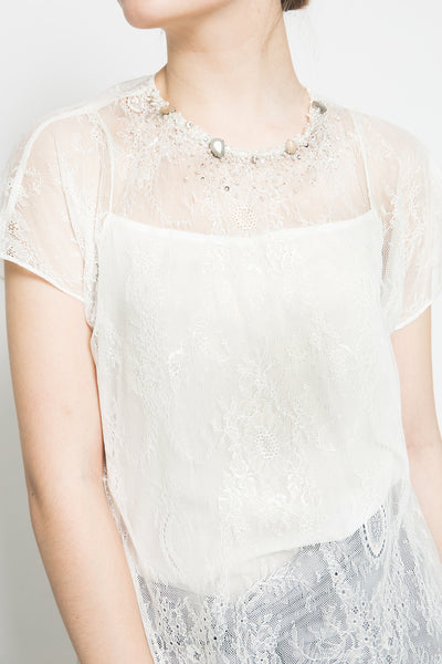 White Sadie Top