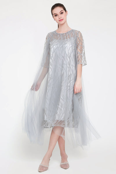 Andalucia Dress in Grey