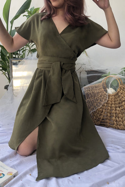 Senna Dress in Olive