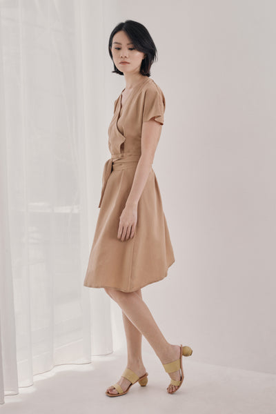 Senna Dress in Beige