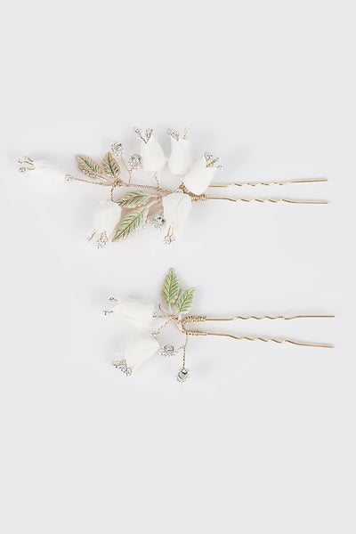 Lily of the Valley Hairpin in White