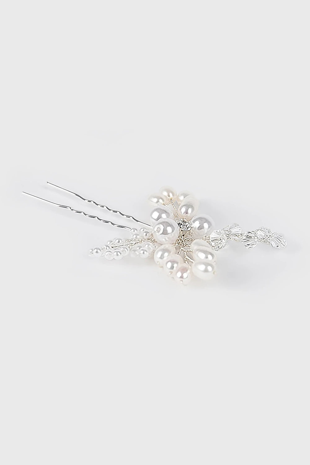 Branches Hairpin in White