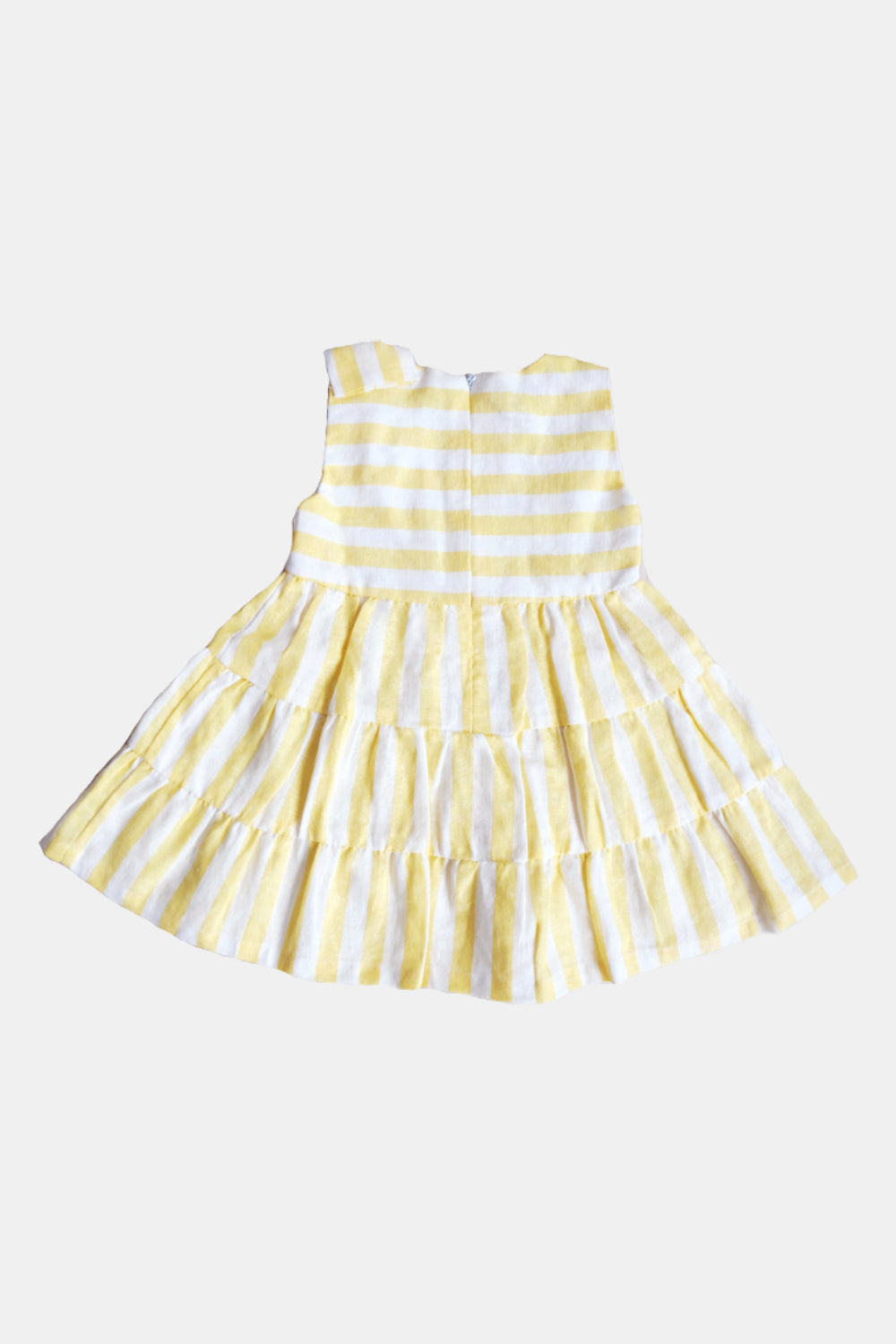 Sunny Dress in White Yellow