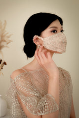 Briele Mask in Champagne Gold