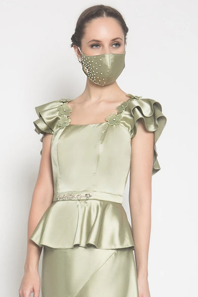 Daisy Couture Mask in Sage