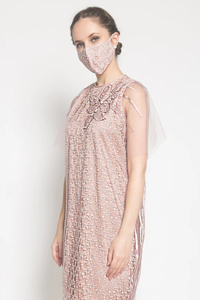 Mauve Lace Mask