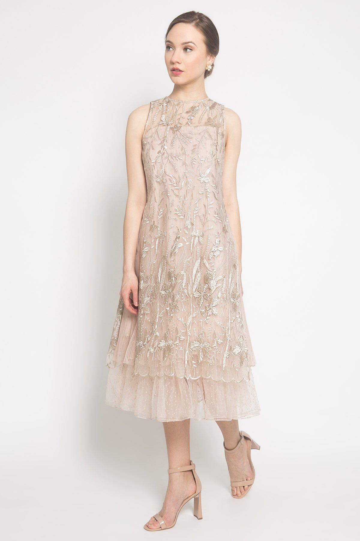 Edith Dress in Eggshell