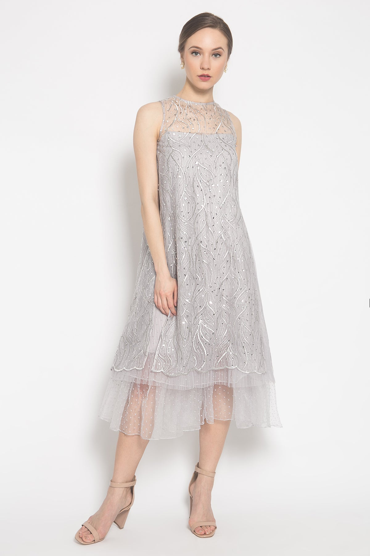 Edith Dress in Silver