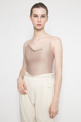 Essi Draped Top in Almond