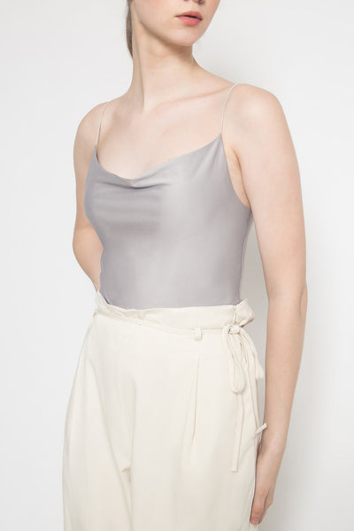 Essi Draped Top in Oyster