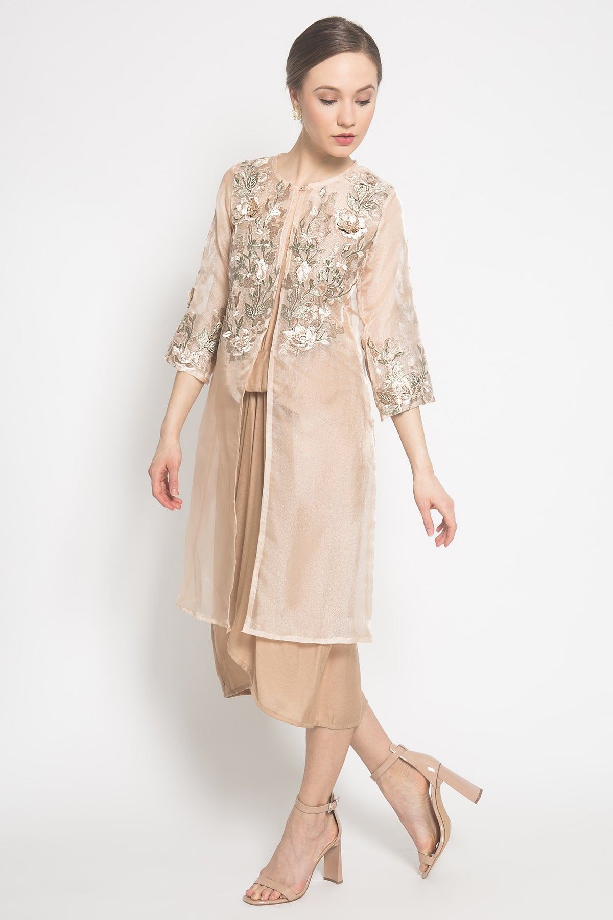 Remy Outer Dress in Peach Cream