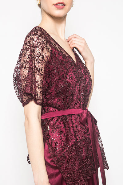 Salma Dress in Maroon