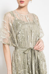 Livia Dress in Olive Green