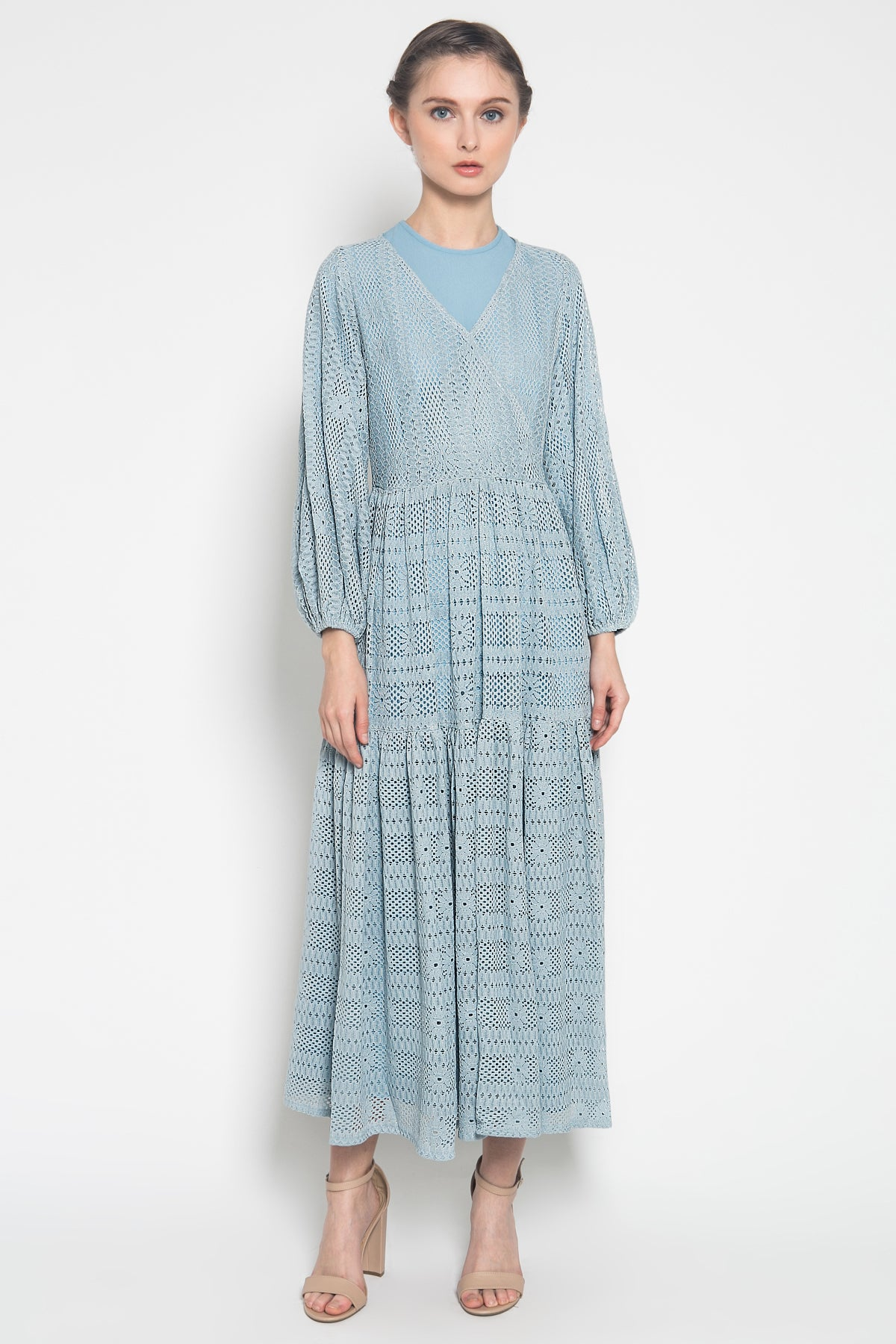 Lady Maxi Dress in Blue
