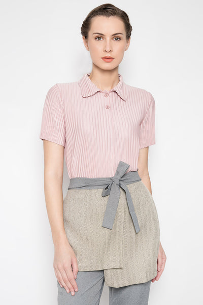 Cody Polo Top in Dust Pink