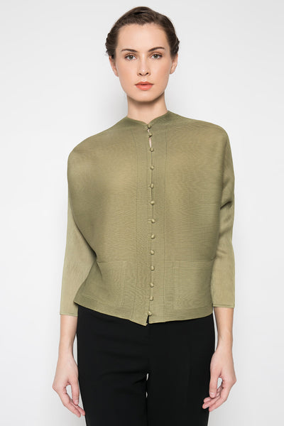 Qipao Top in Olive Green