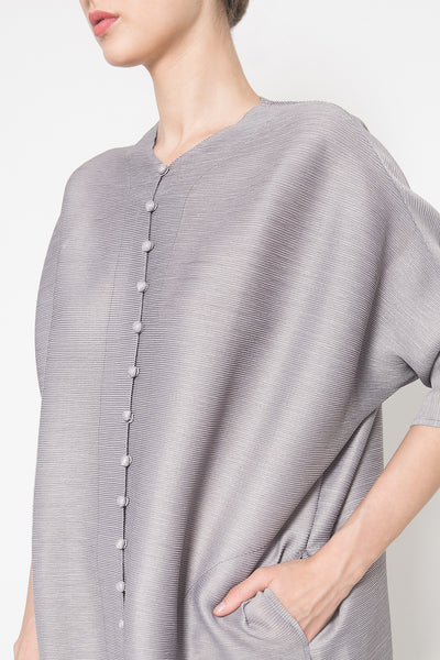 Qipao Dress in Light Grey