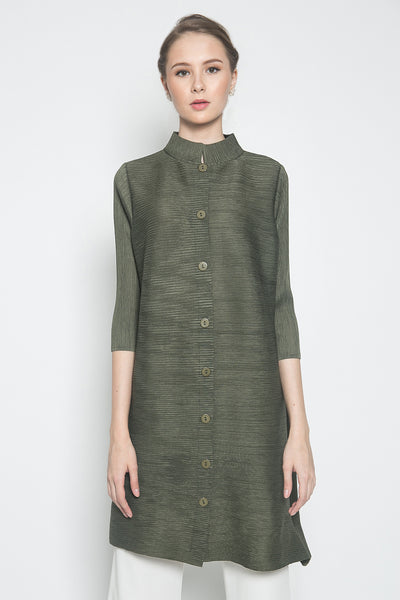 Orge Tunic Dress in Olive Green