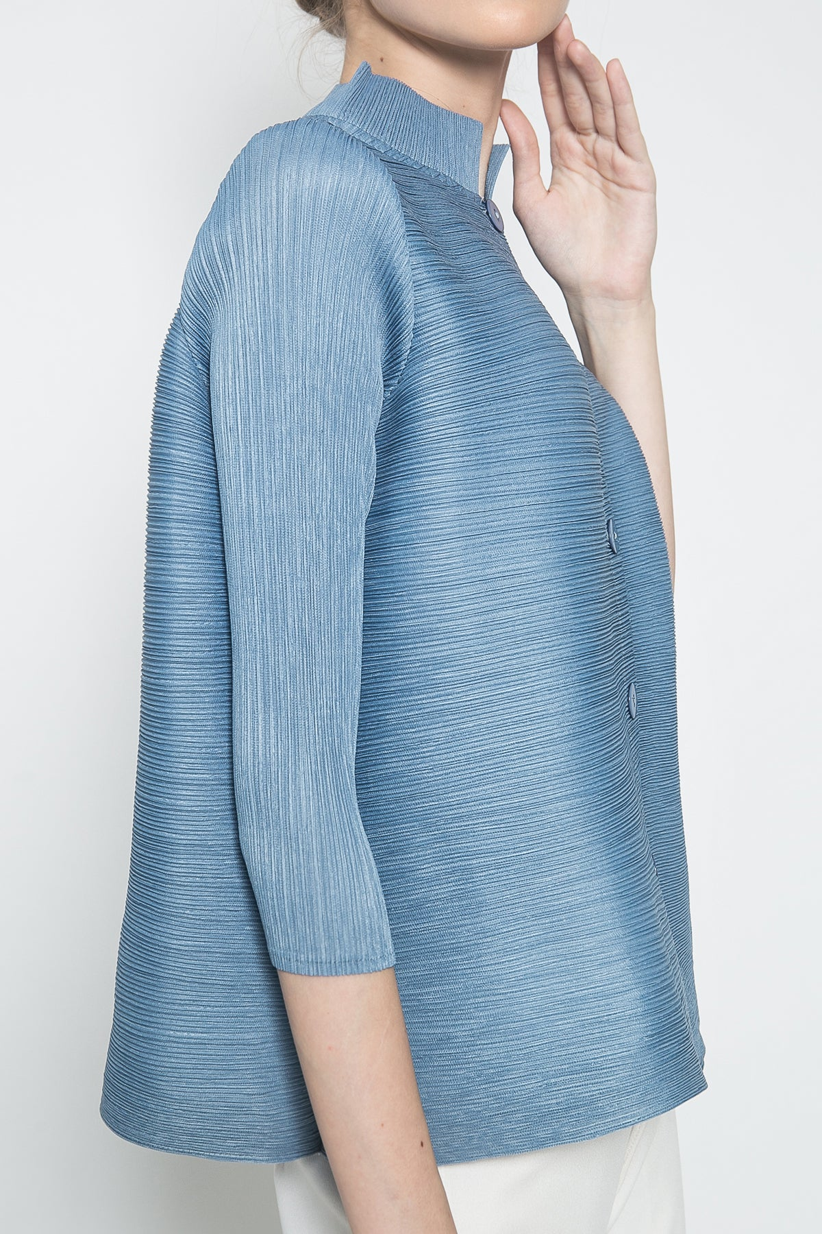 Orge Top in Baby Blue