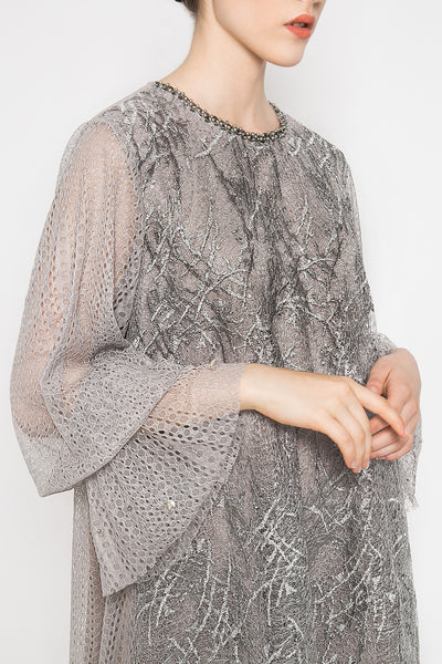 Seira Dress in Silver