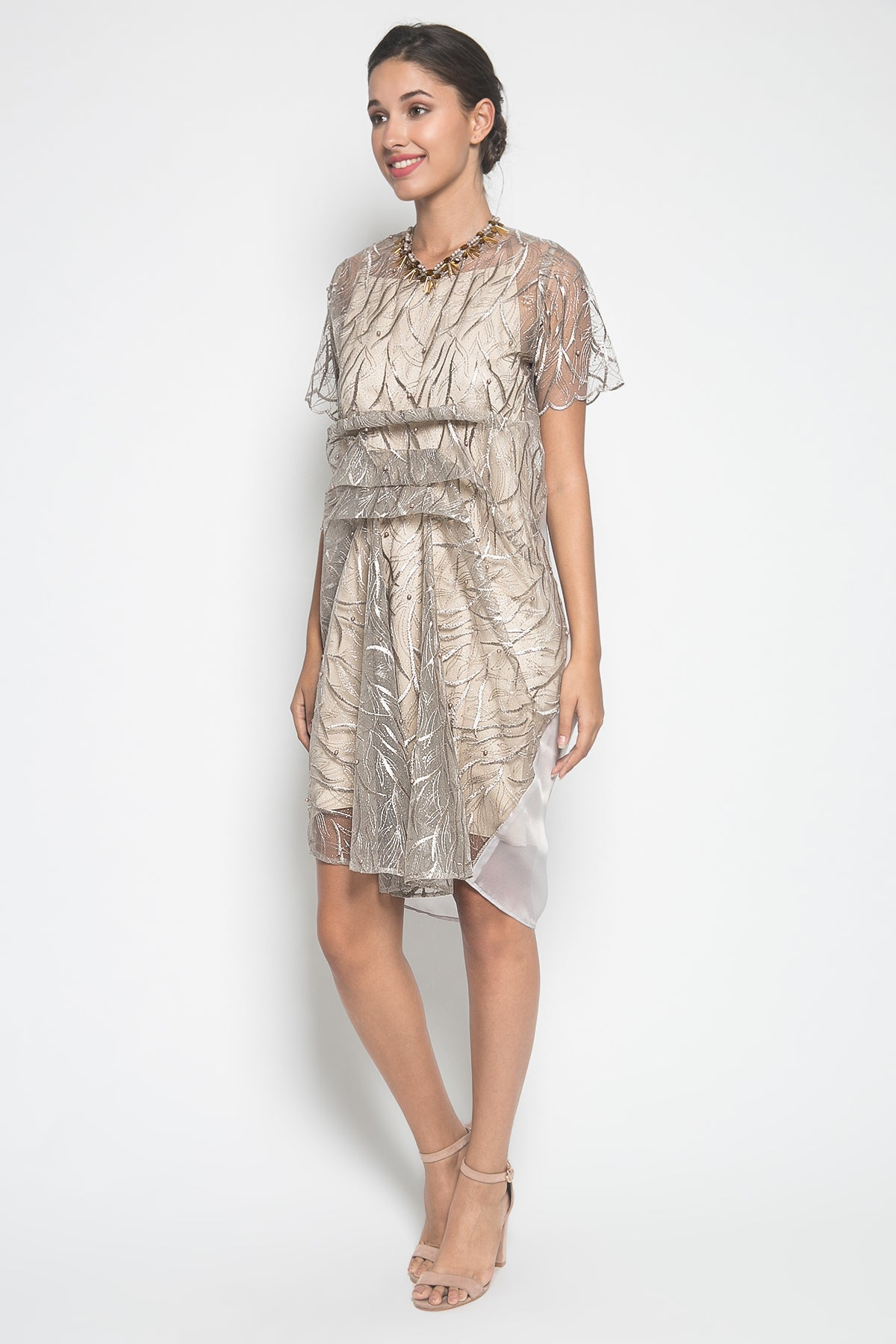 PUAN Karla Dress in Gray