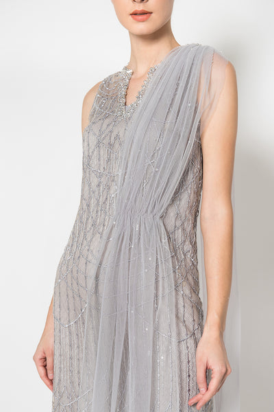 Michelle Dress in Grayish Blue