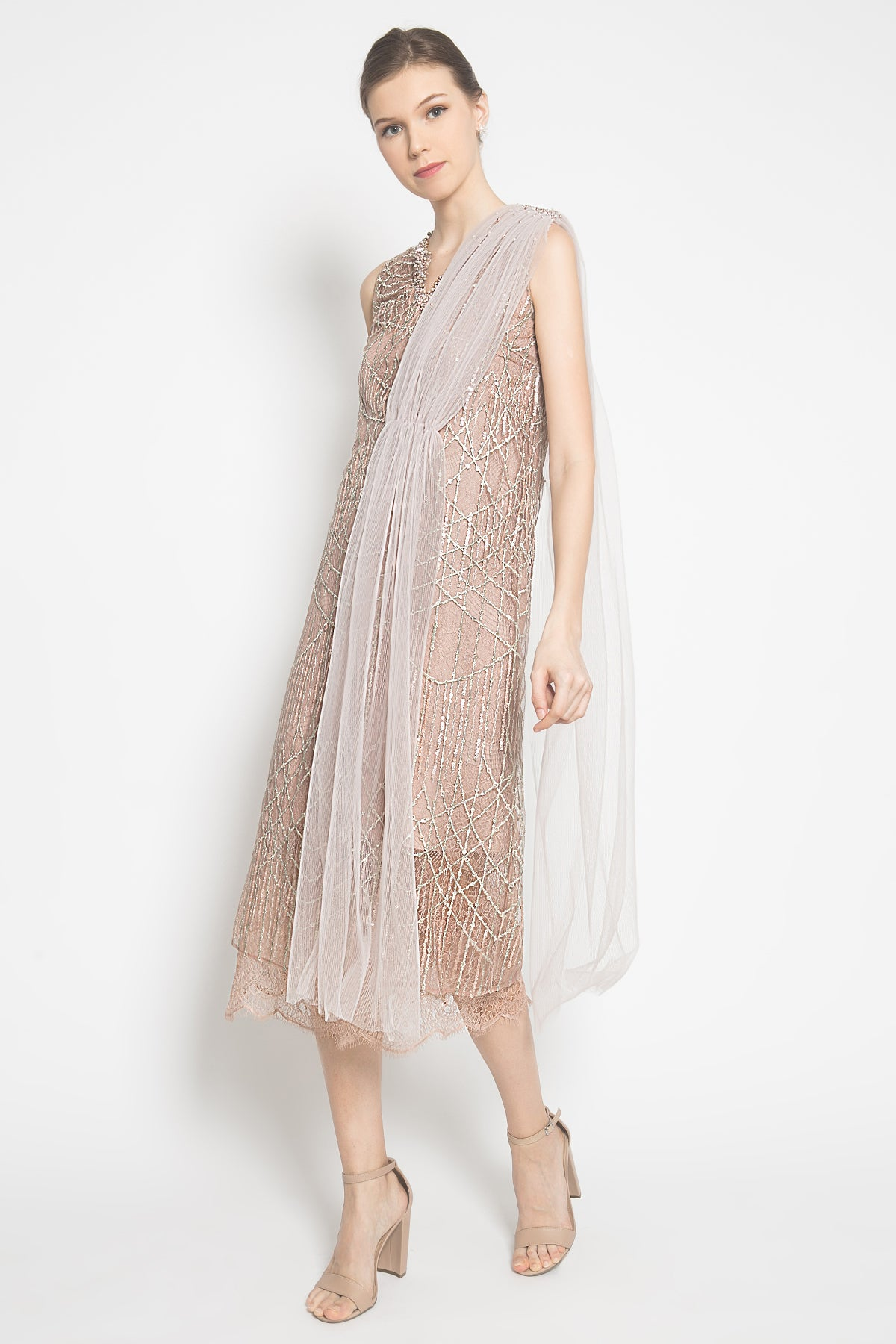 Michelle Dress in Rosegold