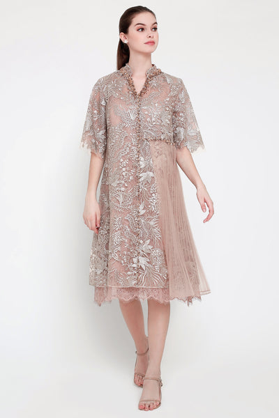 Kanna Dress in Bronze Rosegold