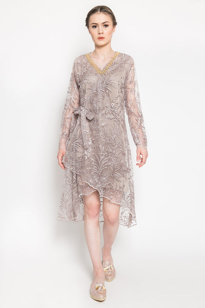 Arunika Dress in Taupe