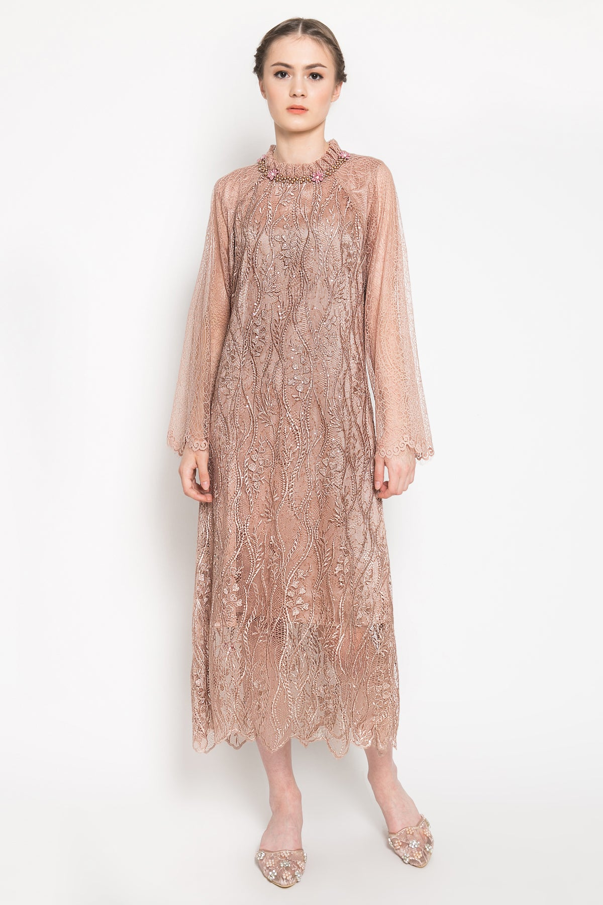 Kirana Dress in Rosegold