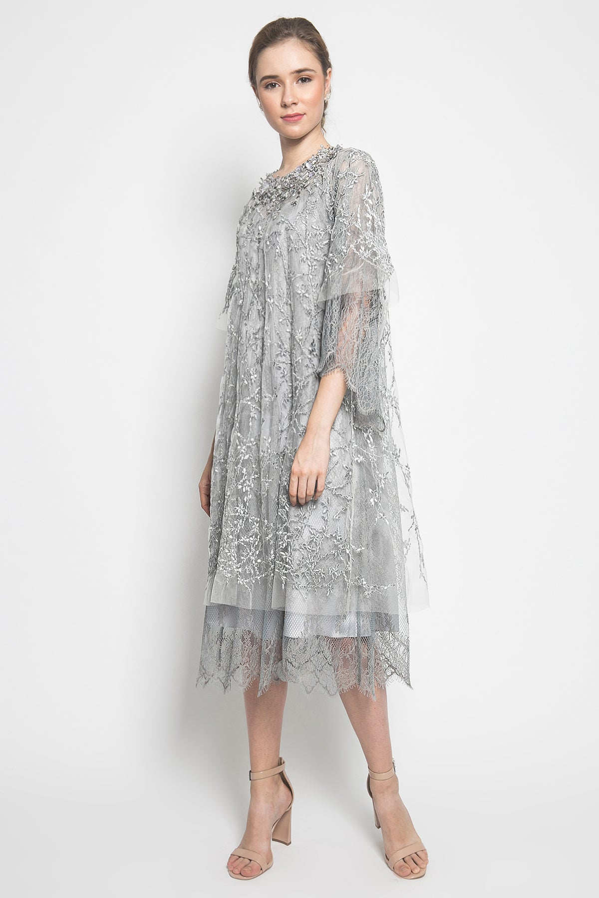 Farida Dress in Silver