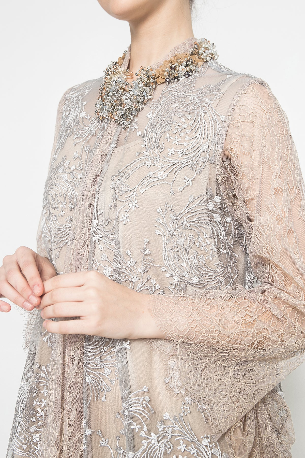 Ghaliyah Outer in Grey