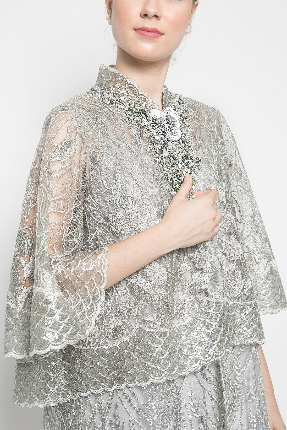 Martiza Outer in Olive Sequin