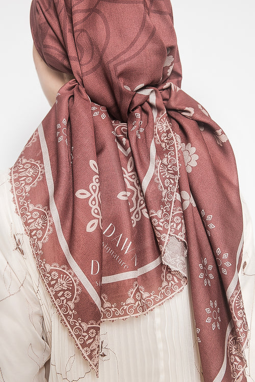 Rania Scarf in Terracota