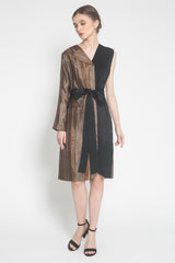 Estelle Dress in Black Gold