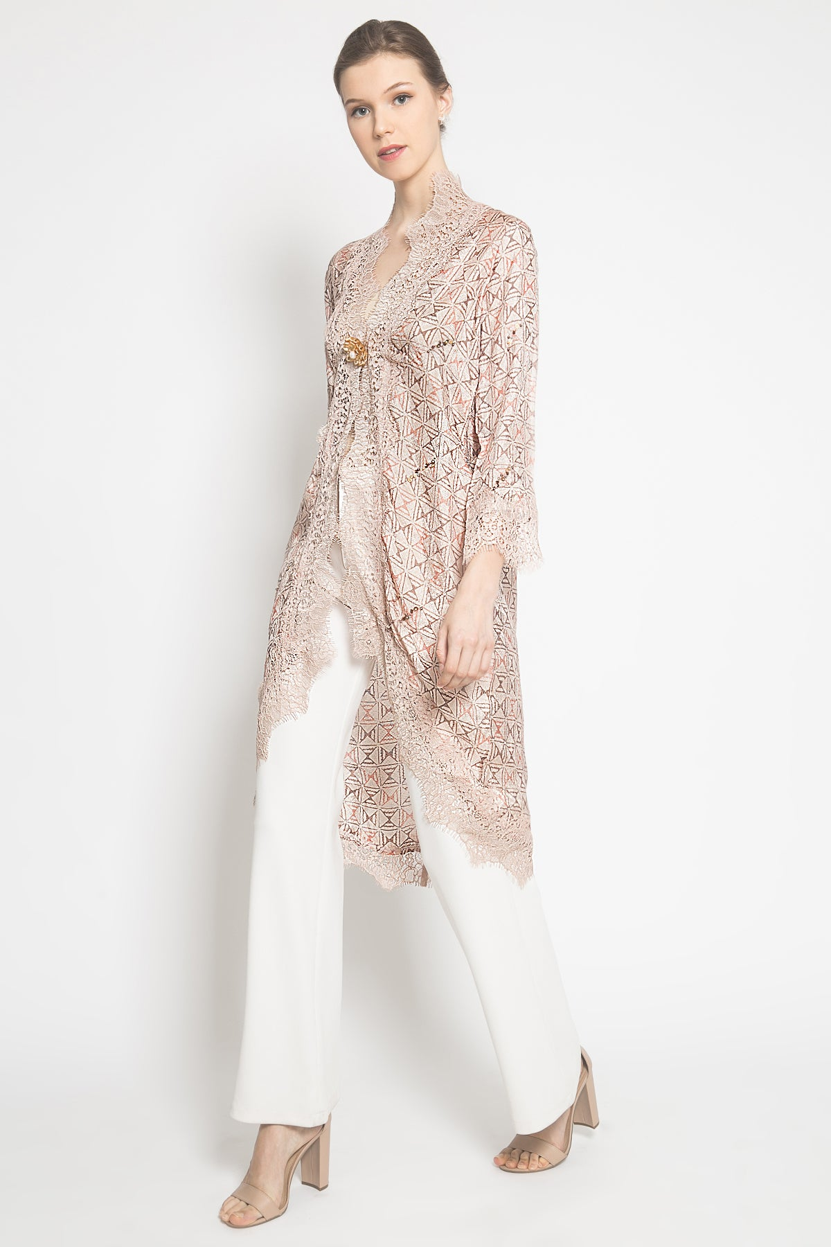 Camelia Batik Outer in Soft Pink