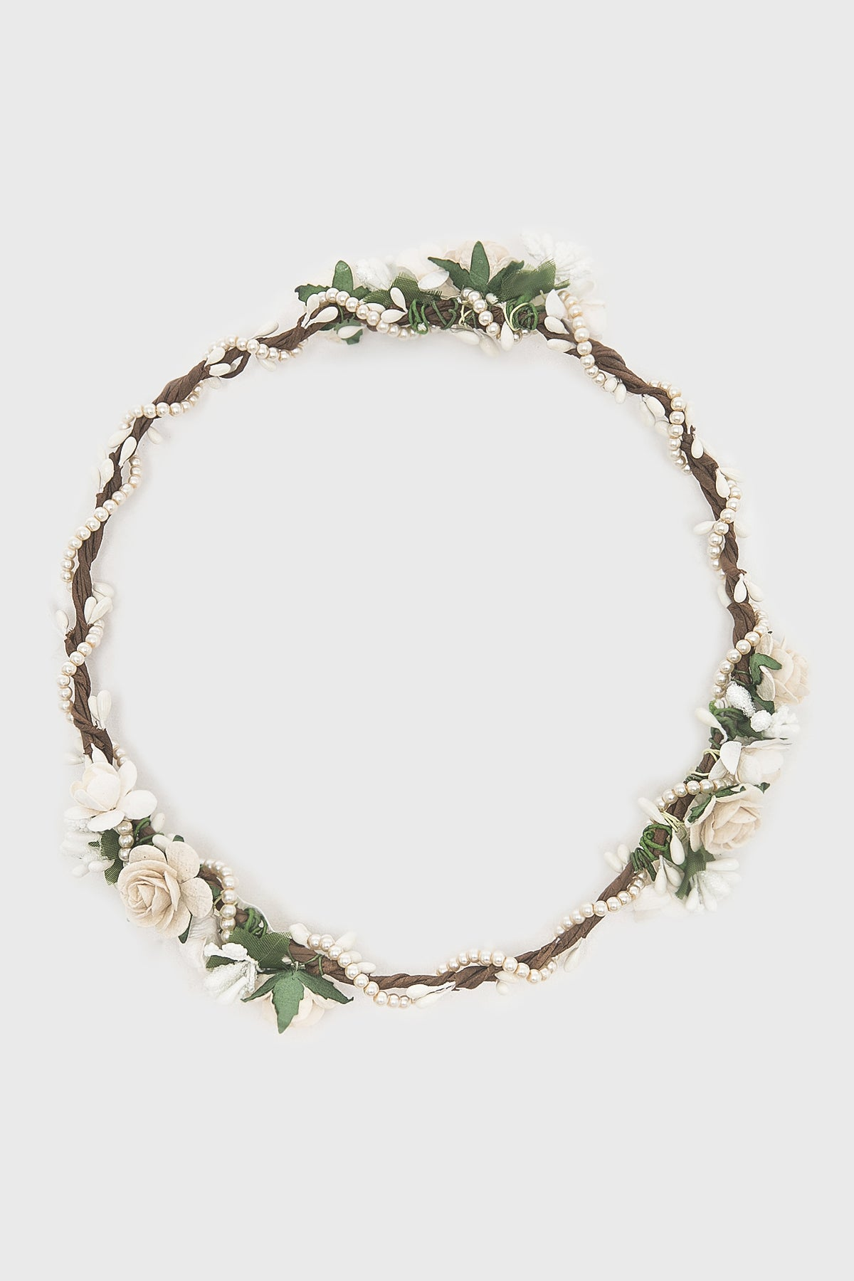 Caralia Flower Crown in Broken White