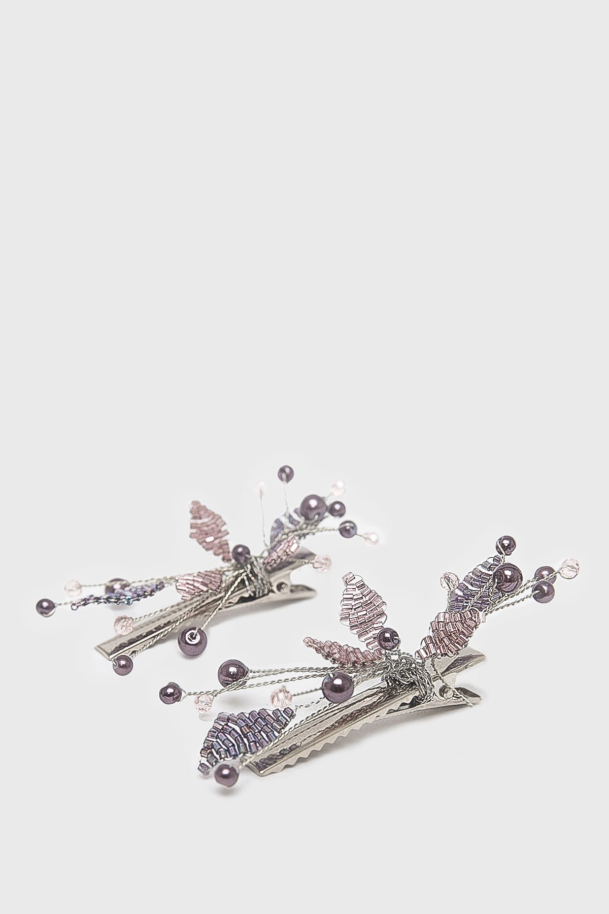 Launa Hairclips in Purple Pink Pack of Two