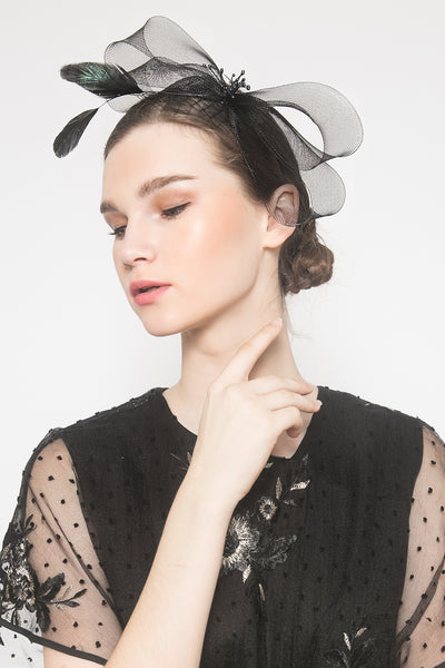 Stesha Headpiece in Black