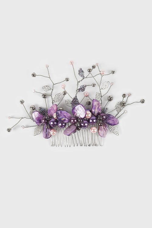 Arzella Hairpiece in Purple