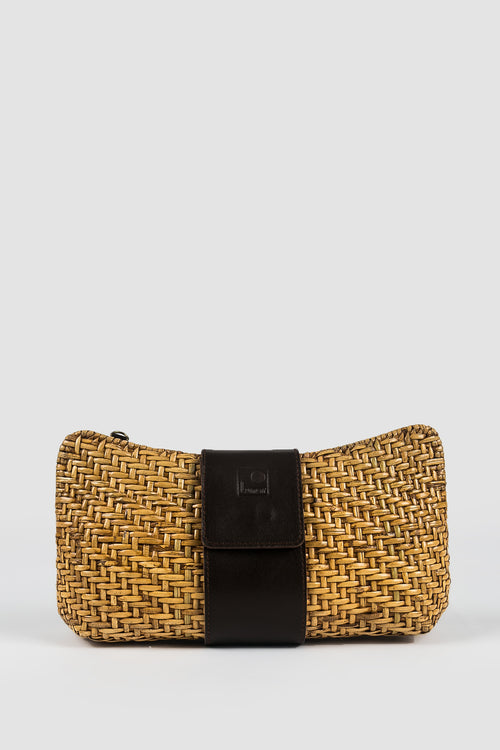 RUMAH LUNAR Gedhang Clutch in Dark Brown