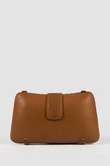 RUMAH LUNAR Leather Clutch in Tan