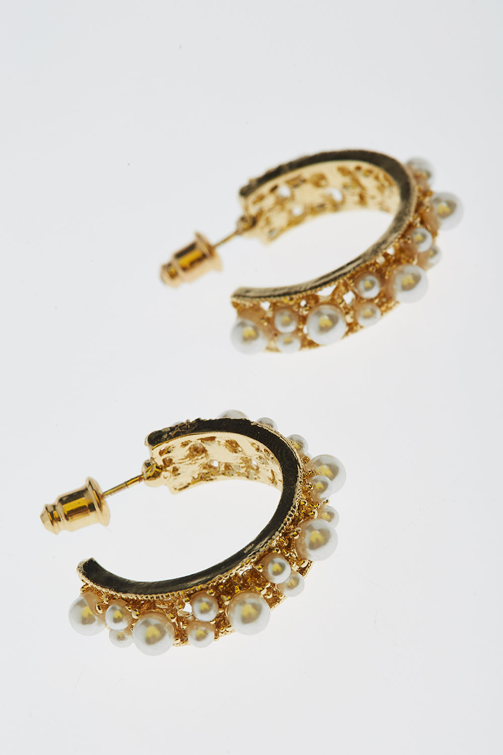 Serra Birgit Pearl Hoops Earrings