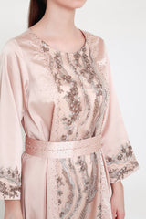 Seraphine Dress in Dusty Pink