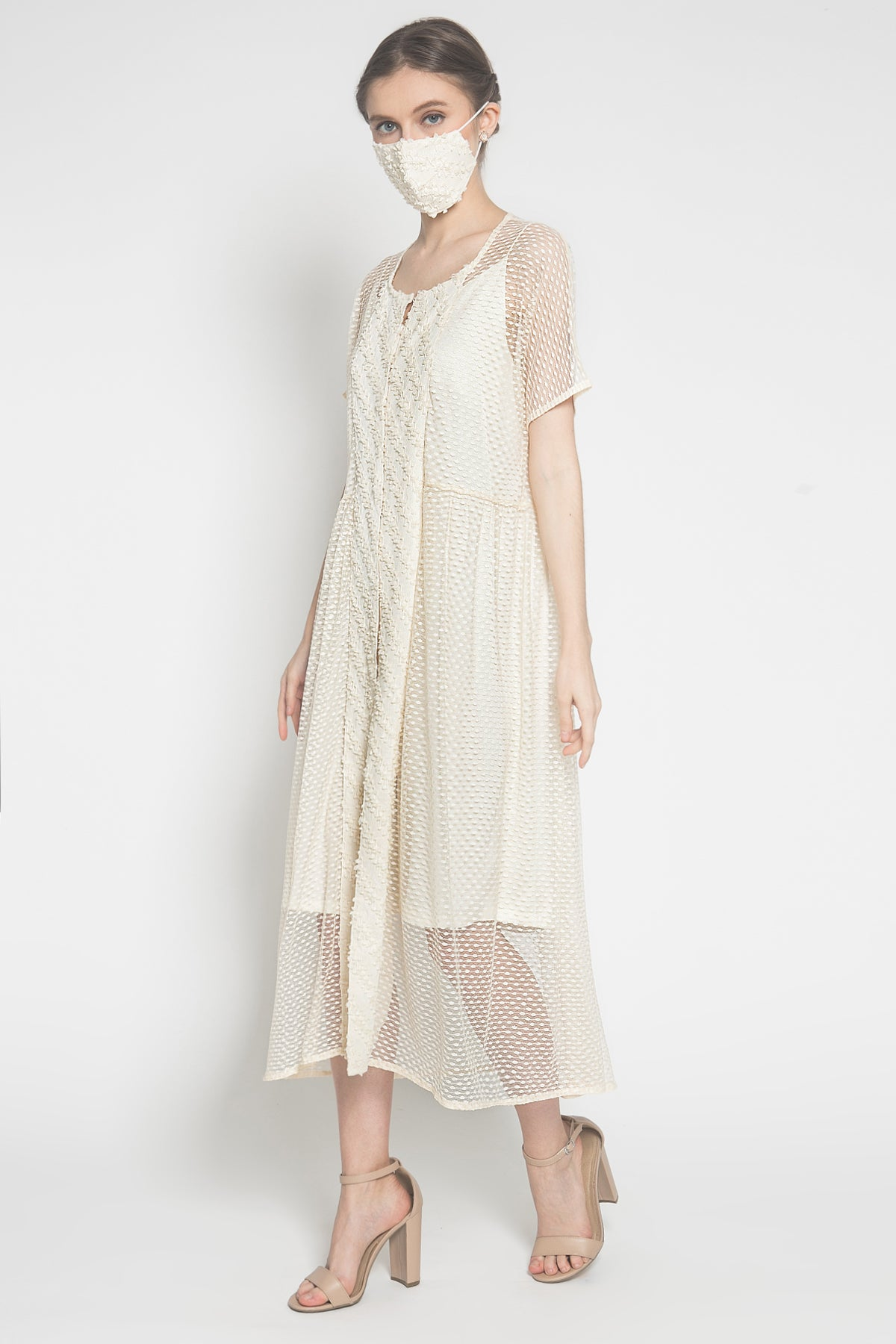 Camani Dress in Ivory