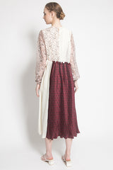 Tomoyo Dress in Maroon