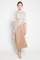 Hana Dress in White Brown