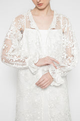 Fleur Outer Dress in White